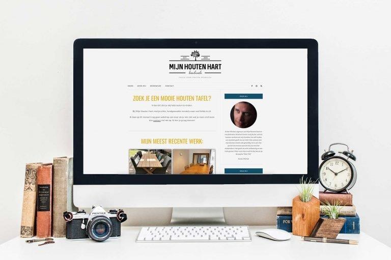 Eenvoudige, makkelijk te onderhouden website voor meubelmaker Mijn Houten Hart