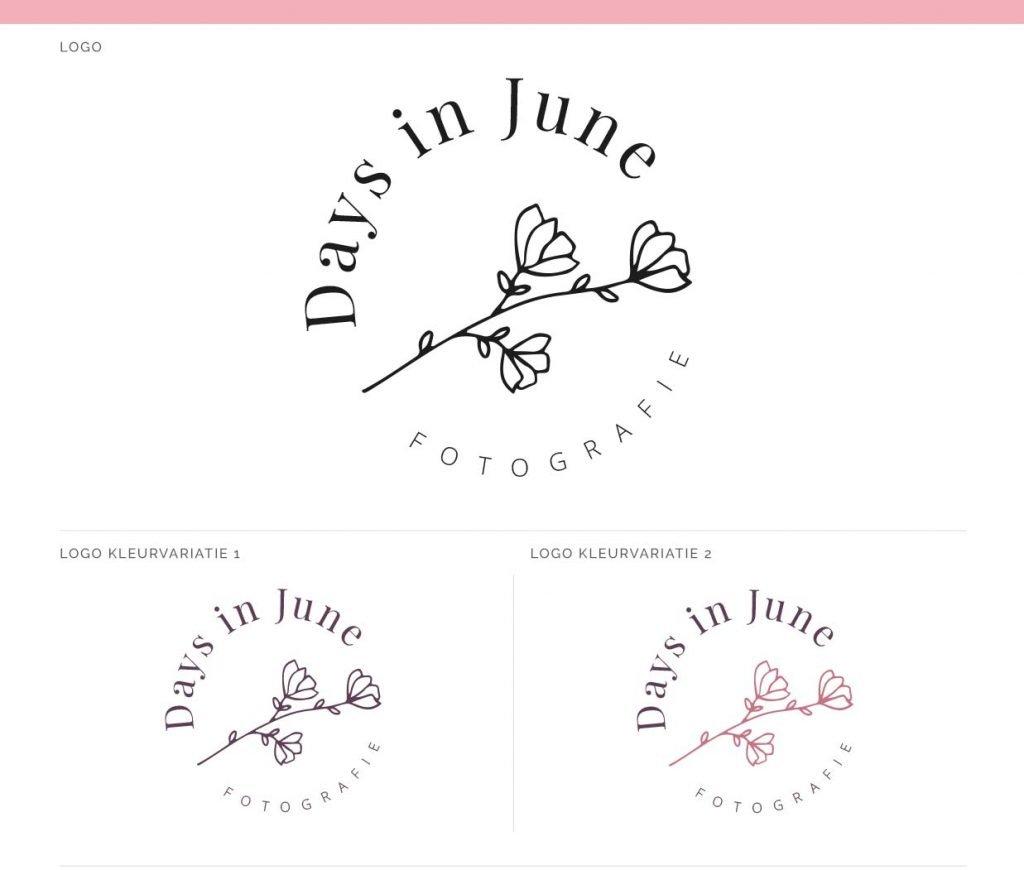 Logo Fotograaf Days in June