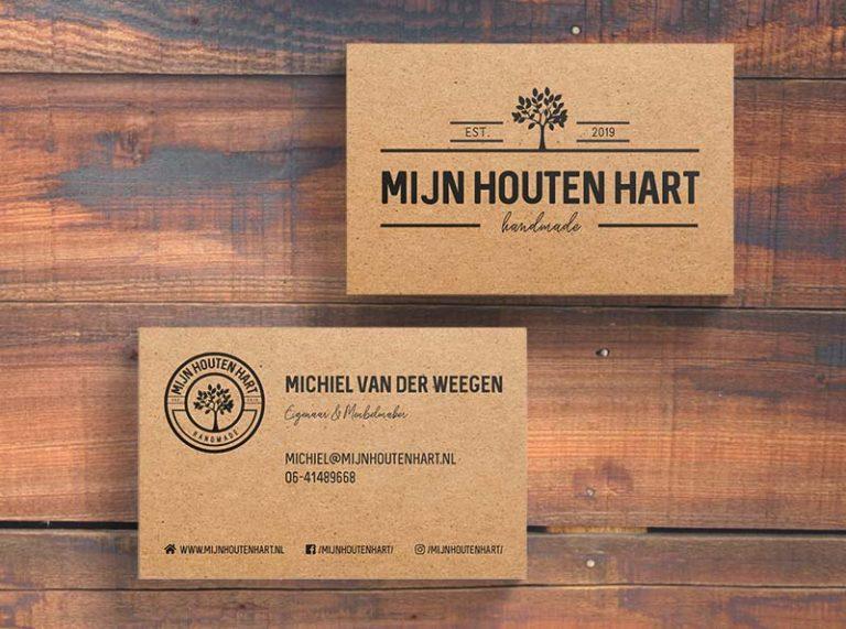 Visitekaartjes meubelmaker Mijn Houten Hart
