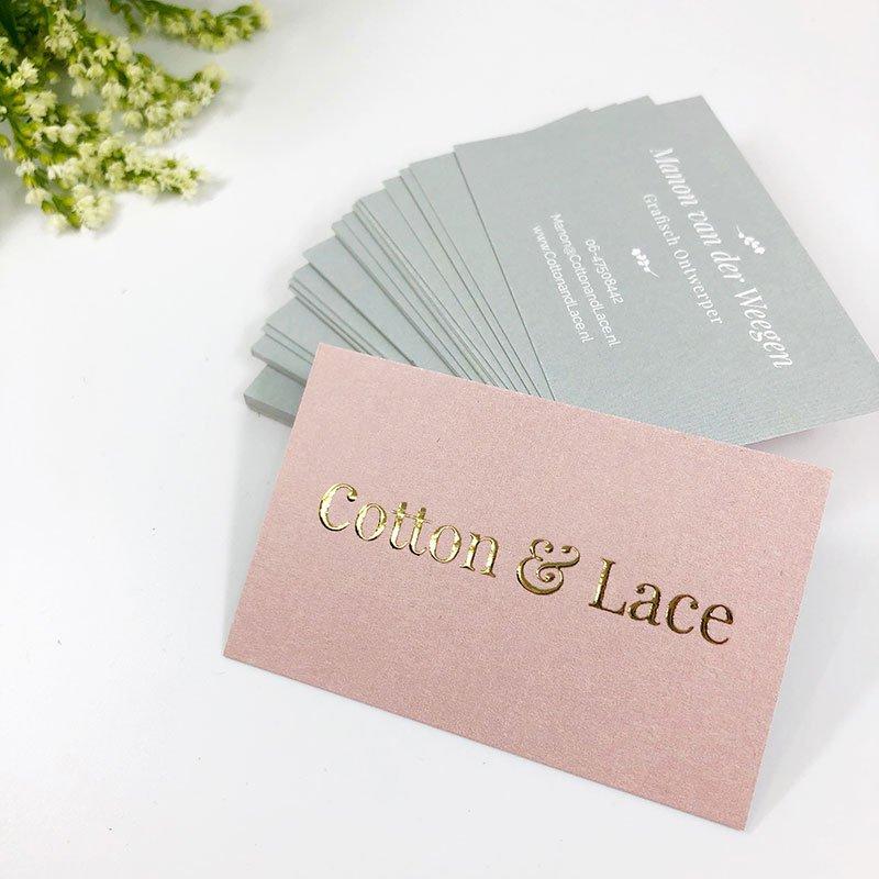 Visitekaartjes voor Cotton & Lace