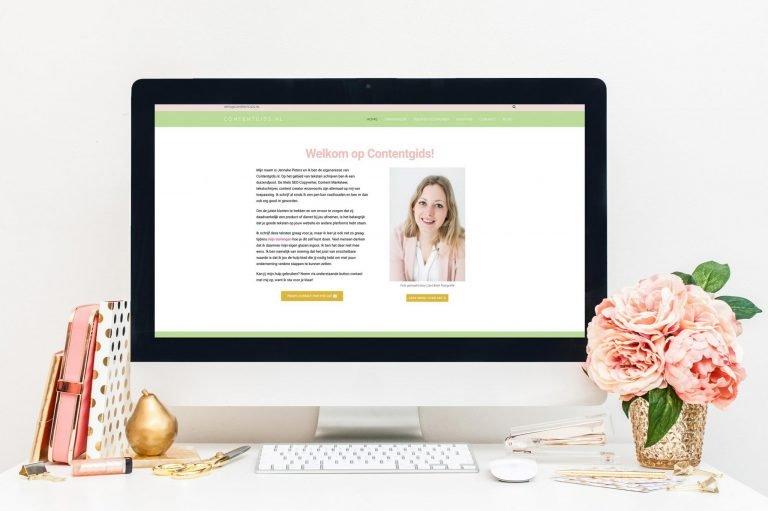 Website voor SEO specialist Jenneke Peters
