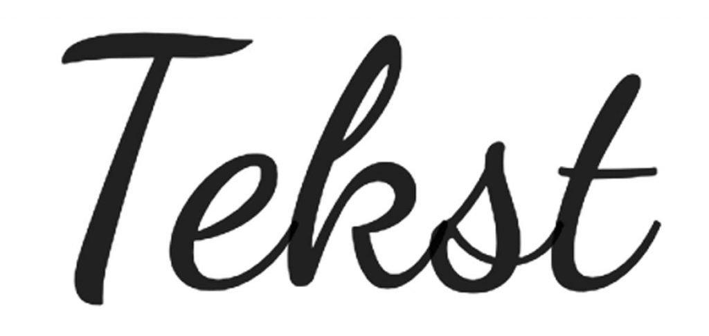 Voorbeeld handgeschreven tekst