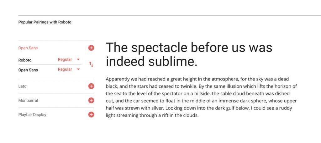 Google Fonts matchen met elkaar