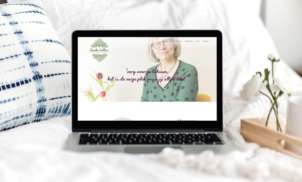 Website massagepraktijk Anneke Wolters